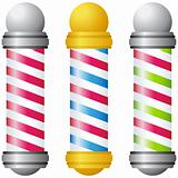 Barbershop Poles - Gold and Silver