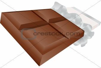 3D Chocolate Candy Bar