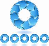 Chevron Blue Diagram