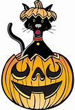 Cat in Pumpkin - glow