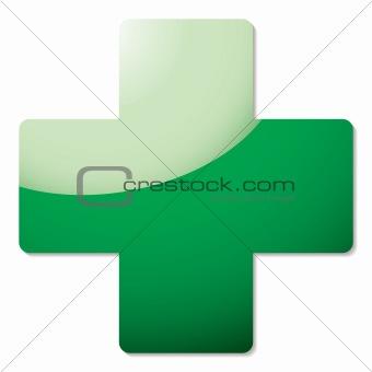 green cross shadow