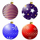 Collection Christmas decorations (vector)
