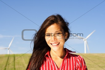 Alternative energy woman