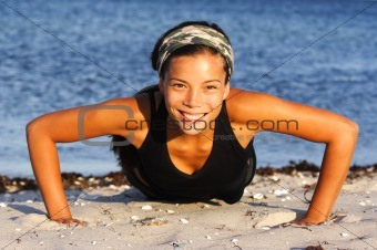 Woman doing push-ups