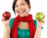 Autumn apple woman
