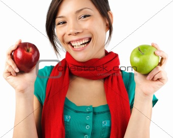 Autumn apple woman