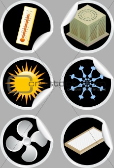 Air Conditioner Icons / Stickers