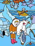 Eskimo in Alaska