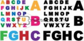 Alphabet - Half Tone