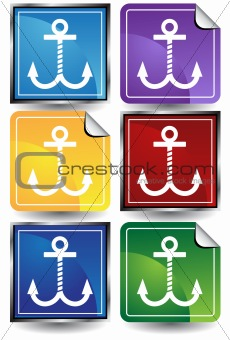 Anchors - 6 Sticker