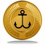 Gold Coin - Anchor