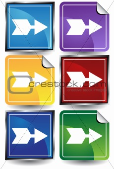 3D Sticker Set - Arrow