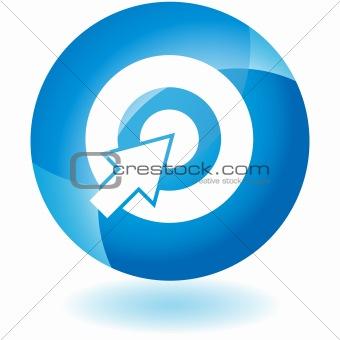 Blue Icon - Bullseye