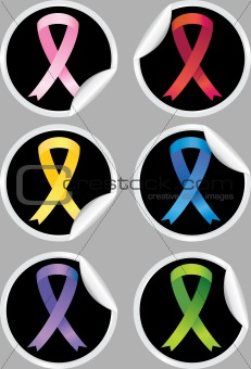Awareness Ribbon Stickers
