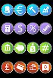 Banking Buttons - Black Background
