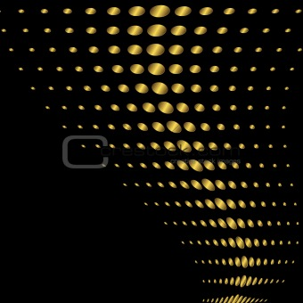 Abstract black and golden background (vector)