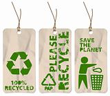 grunge tags for recycling