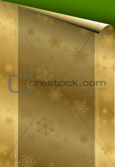 Christmas card with golden paper