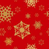 Winter - red christmas seamless pattern