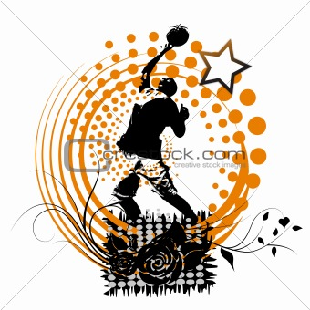 Basketball player artwork