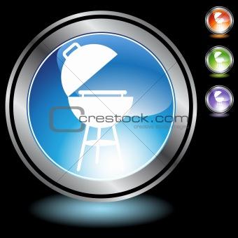 Black Chrome Icons - BBQ Grill