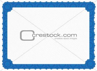Blank Certificate - Blue