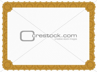 Blank Certificate - Gold