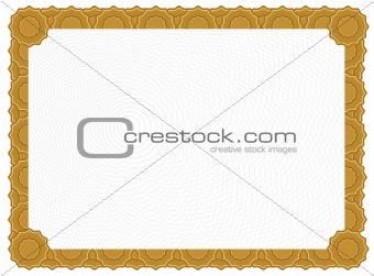 Blank Certificate - Gold