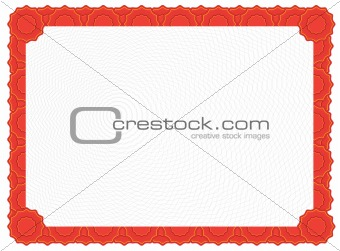 Blank Certificate - Red