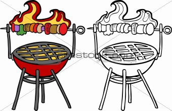 BBQ Grill with Kabob