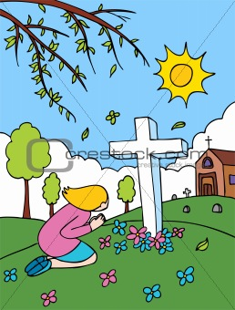 Cemetery Praying