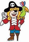 Friendly Pirate with Parrot