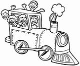 Child Train Ride - black and white