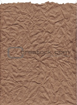 Crumpled Kraft Paper