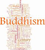 Buddhism word cloud
