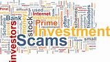 Investment scams word cloud
