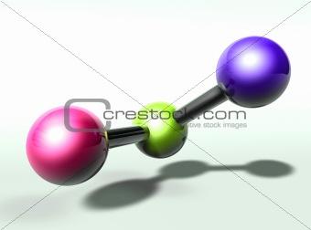 Moecule structure model