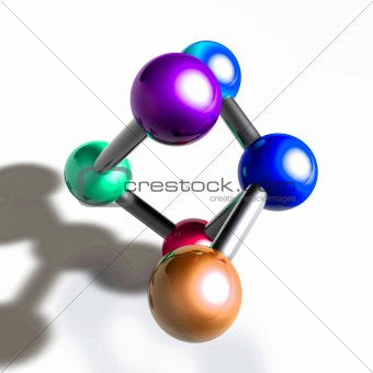Atom molecule illustration