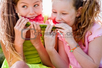 Watermelon fight