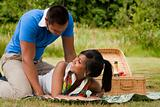 Sweet picnic couple