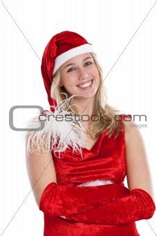 Beautiful woman in santa outfit