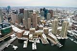Boston Skyline from Air