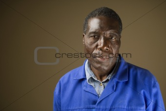 African maintenance worker portrait