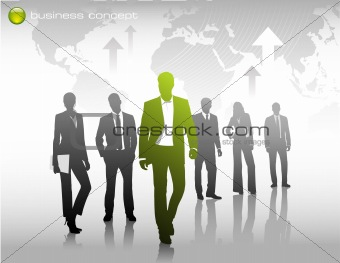 business concept with silhouettes