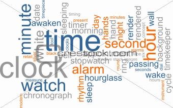 Clock word cloud