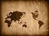 world map vintage artwork
