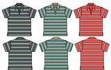 boy polo shirts in stripe pattern