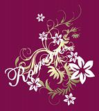 foil scroll romance pattern