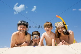 Four divers