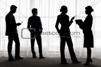 Four silhouettes